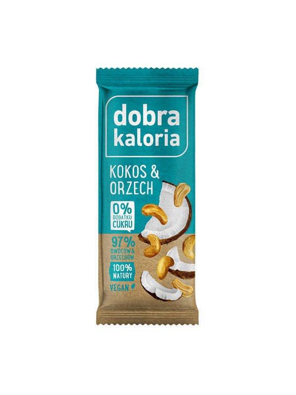 Baton kokos i orzech Bio 35g - Dobra Kaloria - Farma..